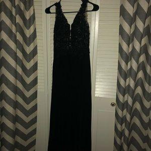 Authentic black sherri hill dress